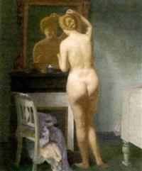 nue à sa toilette by andré félix roberty