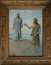 christus und johannes der täufer by hans thoma