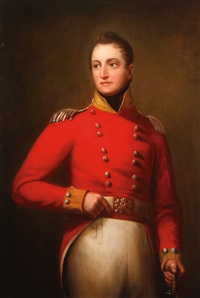portrait of a british officer holding sword by thomas lawrence