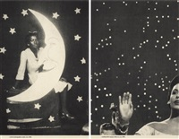 backdrops, circa 1940s (complete set of 2) by lorna simpson