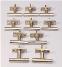 10 fenstergriffe (set of 10) by walter gropius