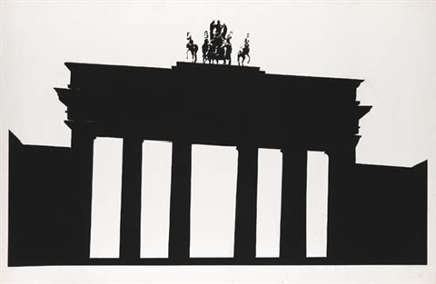 empire trilogy: brandenburg gate, berlin by robert longo