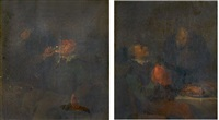 buveur et fumeur dans un intérieur (pair) by egbert van heemskerck the elder