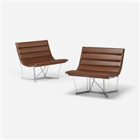 catenary chairs model 6380, pair by george nelson & associates