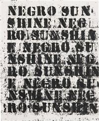 study for negro sunshine ii #10 by glenn ligon