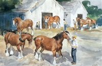 horse show by henry john simpkins