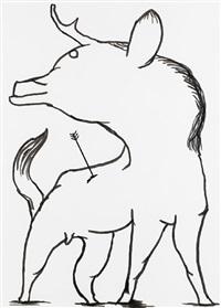 untitled (wild animal) by david shrigley