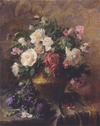 still life with roses by pierre garnier