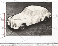 wrapped automobile, project for volvo 122 s sport sedan by christo and jeanne-claude