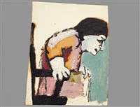 lady in chair by benny andrews