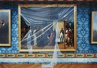 napoleon reçoit à finkelstein, reza bey, 27 avril, ambassadeur de perse, peinture de françois-henri mullard, versailles, attique du midi by robert polidori