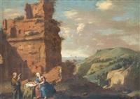 le repos de la sainte famille pendant la fuite en egypte by cornelis van poelenburgh