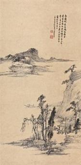 春江独坐 by xiao junxian