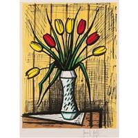 tulipes jaunes et rouges by bernard buffet