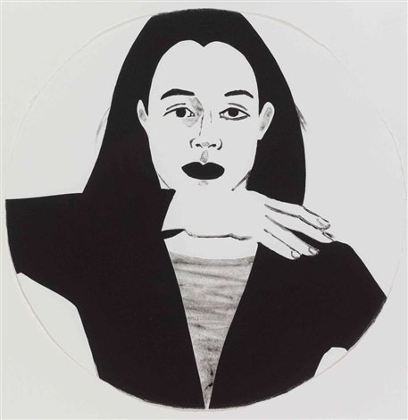 potrait in a convex mirror by alex katz