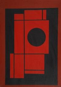 composition avec cercle et rectangles by amédée cortier