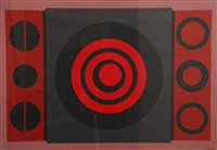 composition avec cercles et carré by amédée cortier