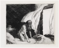 evening wind by edward hopper