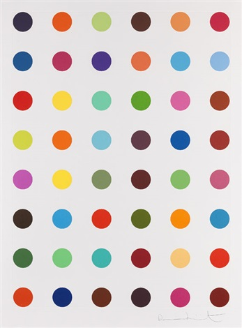 unique spot etching oleoylsarcosine by damien hirst