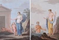 vestale con tritone; vestale con cupido (pair) by anonymous (19)