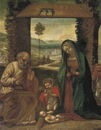 the nativity with st. john the baptist by benvenuto tisi da garofalo
