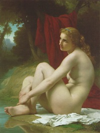 baigneuse by pierre auguste cot