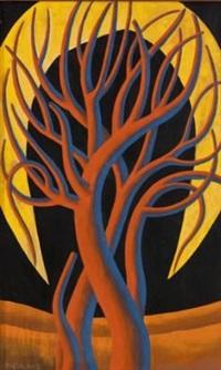 red tree, yellow moon by nicolaas maritz