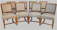 suite de huit chaises (set of 8) by andré arbus