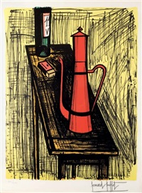 la cafetière rouge by bernard buffet