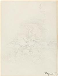 pflanzenstudie (huflattich) by carl spitzweg