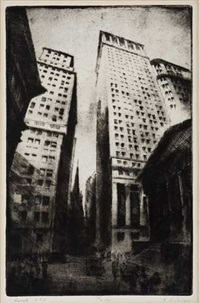 wall street, n.y.c. by gottlob briem