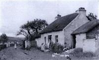 an irish cottage at dusk by john allen mcdougall