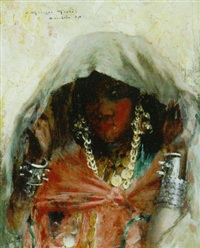 jeune fille de bou-saâda by georges gasté
