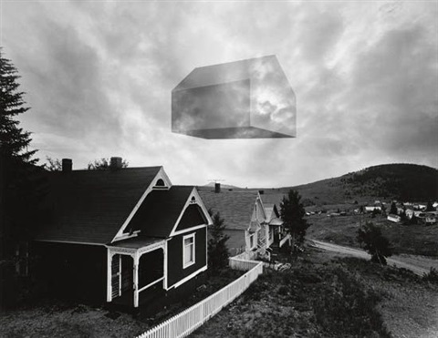floating house by jerry uelsmann