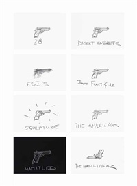 gun drawings by robin rhode