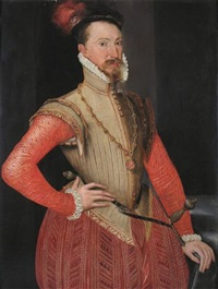 portrait of robert dudley, earl of leicester by steven van der meulen
