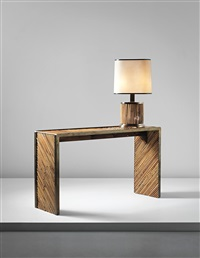 console with table lamp by gabriella crespi