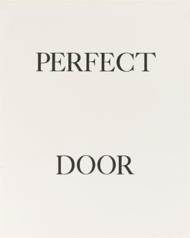 perfect door, perfect odor and perfect rodo (3 works) by bruce nauman