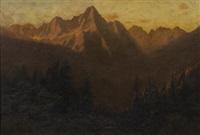 sunset san juan range, colorado by charles partridge adams