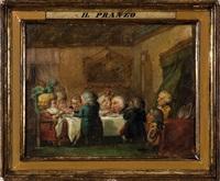il pranzo and i rinfreschi (pair) by enrico albricci