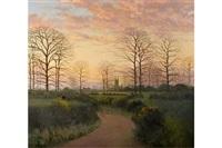 evening landscape by john miller