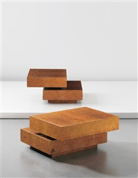 scultura piccola adjustable low tables from the plurimi series (pair) by gabriella crespi