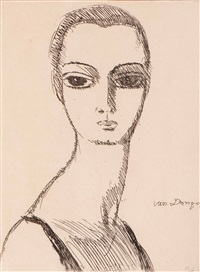 girl with swan neck by kees van dongen
