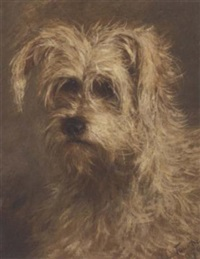 the head of a terrier by a.d. la touche