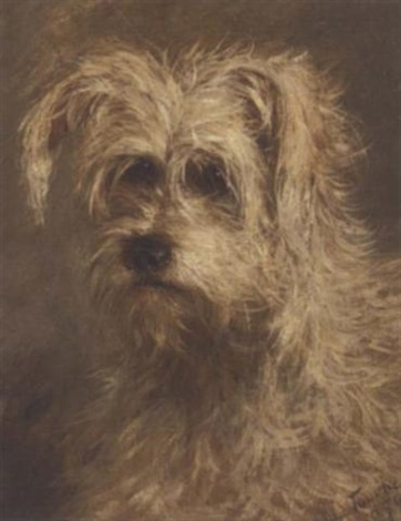 the head of a terrier by ad la touche