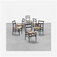 leggera chairs (set of 6) by gio ponti