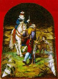 scène de chasse by théophile soyer