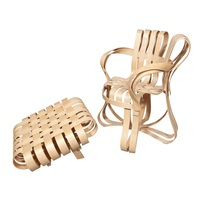 cross check chair and two ottomans by frank gehry