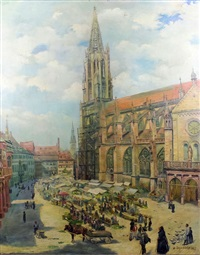 frieburg cathedral by georg jacobsen