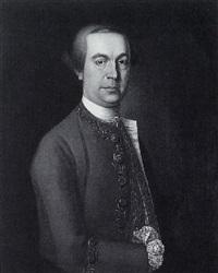 portrait of a gentleman in a grey coat by cosmo alexander
